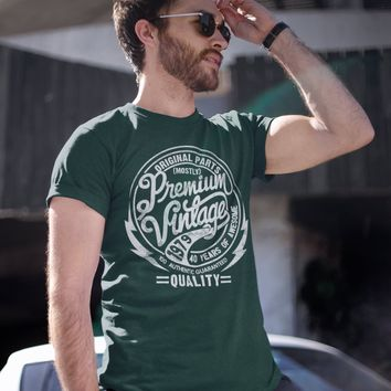 fc9a4c247 Men's Premium Vintage T Shirt 1979 Birthday Made In Shirt 40th Birthday Tee  40 Years Awesome