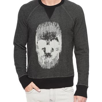 True Religion French Terry Mens Sweatshirt - Cbb Black / Black