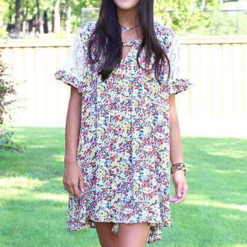 Floral Me Not Tunic Dress {Yellow Mix}