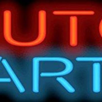 """Auto Parts Glass Tube Car Garage neon LIGHT sign Handcrafted Automotive signs Shop Store MAN CAVE GAS OIL 17""""x14"""""""