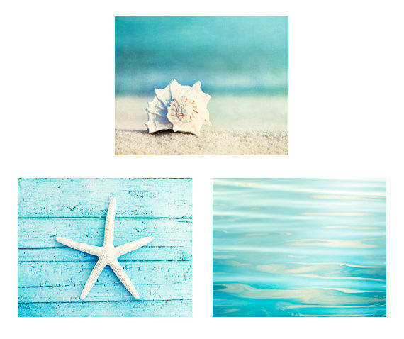 Beach Print Set Set Of 3 Photographs From Carolyncochrane On