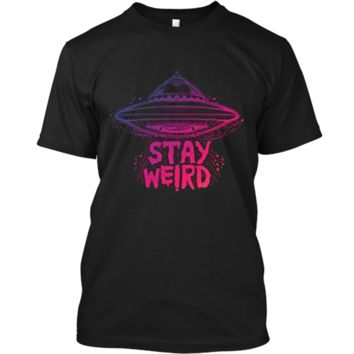 Stay Weird  - Pastel Goth Aesthetic - Vaporwave Alien Custom Ultra Cotton
