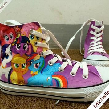 custom design purple converse custom hand painted shoes high top converse shoes conver