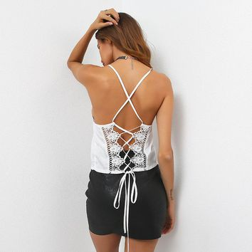 Beach Stylish Comfortable Bralette Hot Summer Sexy Spaghetti Strap Butterfly Backless Slim Vest [11830135055]