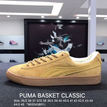 Puma Suede Classic Basket Wheat Casual Shoes Sneaker - 361324-01