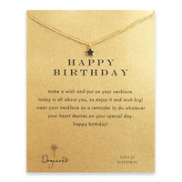 happy birthday teeny star necklace, gold dipped - Dogeared