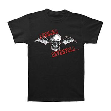 Avenged Sevenfold Men's  Bat Death T-shirt Black