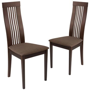 2 Pk. Hamlet Wood Dining Chair with Framed Rail Back and Fabric Seat