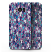 Purple and Blue Upside Down Teardrop Watercolor Pattern - Samsung Galaxy S8 Full-Body Skin Kit