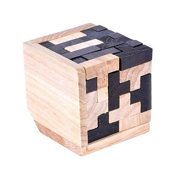 Educational Wood Puzzles for Adults Kids Brain Teaser