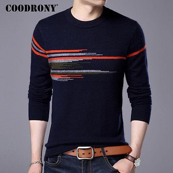 Sweater Men New Fashion Pattern O-neck Pull Winter Thick Warm Wool Sweaters Mink Cashmere Pullover Male