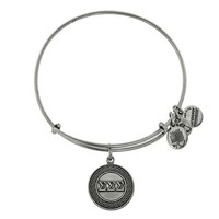 Alex and Ani Sigma Sigma Sigma Charm Bangle - Russian Silver