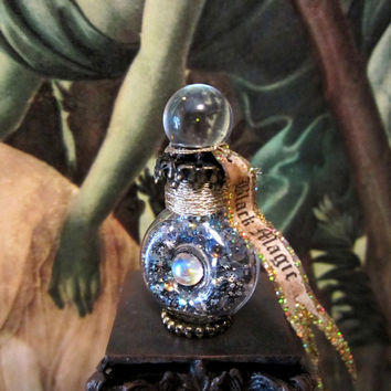 Black Magic Ball  potion bottle ooak dollhouse miniature in one inch scale