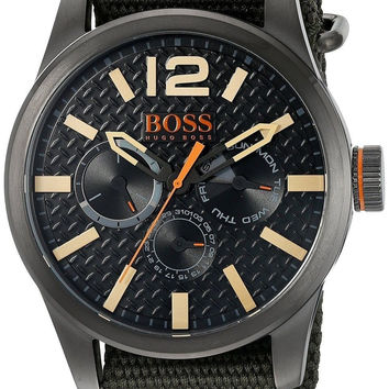 BOSS Orange Men's 1513312 Paris Analog Display Japanese Quartz Green Watch