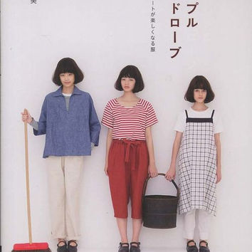 Simple Wardrobe - Tomomi Okawa - Japanese Sewing Pattern Book for Women Clothing - Easy Sewing Tutorial - Pullover, Pants, Dress,Bag - B1084