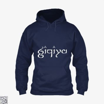 Zachary In Elvish, Lord Of The Rings Hoodie