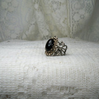Ring - Black Onyx Ring - Vintage Style Ring - Sale - Free Shipping