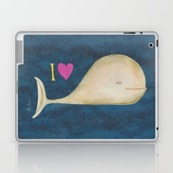 I love whales Laptop & iPad Skin by Josep Mestres