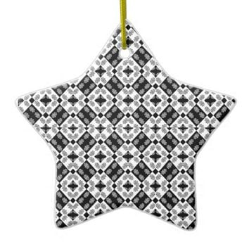 Geometric Modern Baroque Pattern Ceramic Ornament