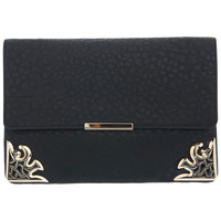 Black Deco Corner Clutch - Bags & Purses - Accessories - Miss Selfridge