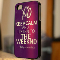 Keep Calm And Listen To The Weeknd - B154 - For iPhone 5 Case, iPhone 4/4s Case