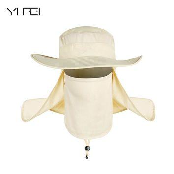 YIFEI Fisherman Cap Waterproof Big Bucket Hats with a wide brim New Summer wind-proof Sun Hats SPF 30+ UV Protection Fishing Hat