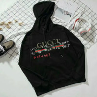 Gucci Trending Fashion Casual Print Round Neck Long Sleeve Pullover Hoodie Sweater Black G-GQHY-DLSX
