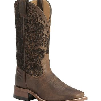 Boulet Tooled Shaft Cowgirl Boots -- Square Toe - Sheplers