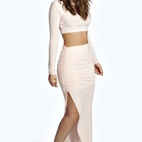 Faye Slinky Wrap Asymmetric Skirt