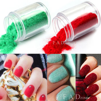 24 Colors Nail Art Velvet Flocking Powder Decoration DIY Tips For UV Gel Polish