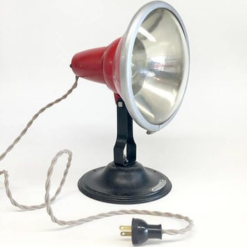 Red Flood Light, Red Industrial Spotlight, Noma Floodlight Projector, Noma Electric Corporation, Industrial Lamp, Industrial Lighting