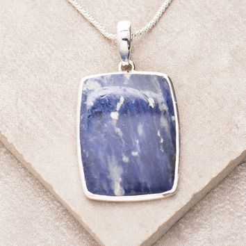 Blue Sodalite Pendant Necklace