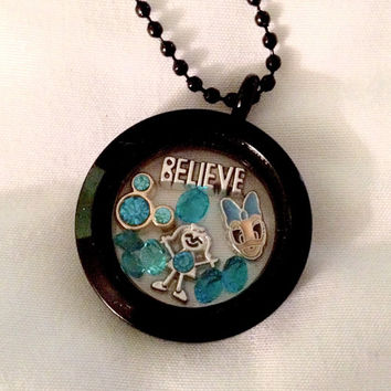 Turquoise Belive Disney Magic Floating Charm Living Memory Locket