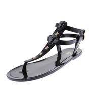 Love Moschino Womens Star Studded Thong Sandals