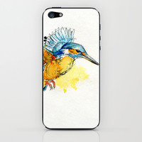 Kingfisher iPhone & iPod Skin by Abby Diamond