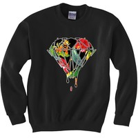BeWild Brand® - Floral Dripping Diamond Crewneck Sweatshirt #B515-PS