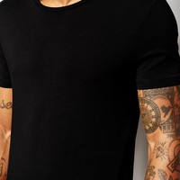 ASOS Muscle Fit T-Shirt With Crew Neck And Stretch In Black