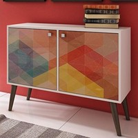 Funky Avesta Side Table 2.0  with 3 Shelves with Stamp Door
