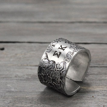 Sigma Kappa Ring, Sorority Ring,  Sigma Kappa Jewelry, Hand Stamped Ring, Personal Sorority