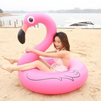 Inflatable Flamingo Pool Float Swim Ring Beach Party Adult