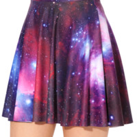Galaxy Purple Skater Skirt | Black Milk Clothing