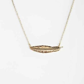 Light As A Feather Necklace- Gold One