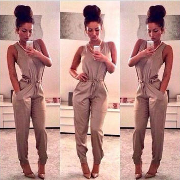 Summer Club Sexy Bandages Prom Dress Pants Hot Sale Jumpsuit [7278863879]