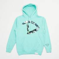 D Simple Pullover Hood in Diamond Blue