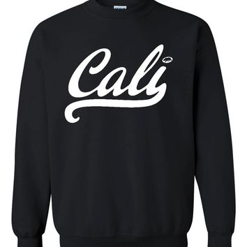 Cali White Crewneck California sweatshirts Large Black