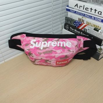 Pink Supreme Crossbody Canvas Shoulder Chest Bag