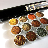 the grill guru master kit - magnetic gift set of 12 - all the BBQ favorites in one sweet kit - the perfect gift for him.