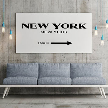 CUSTOMIZE PRINT Prada Marfa New York City Print Typography Art Print Gift for Him Fashion Art NYC Art Prada Marfa Sign Like in Gossip Girl