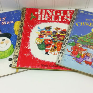 Jingle Bells, Frosty the Snowman, The Biggest Most Beautiful Christmas Tree, Little Golden Book Christmas