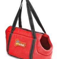 Pettom Pet Purse Carrier- Cat DogTravel Tote Shoulder Soft Sided Bag (Small, Orange)
